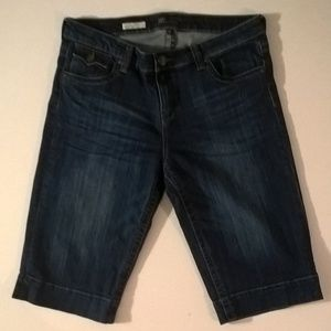 kut shorts size 12 bermudas blue denim womens